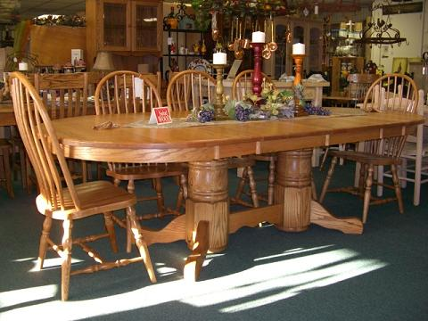 Oak Oval Trestle Table 48wx66l W 2 18 Leaves 102 Overall Length Diffe Sizes And Claw Feet Available Handmade In The U S A